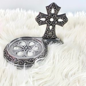 Carson 2001 Pewter Cross Candle Holder